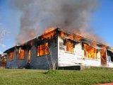 Pożar domu